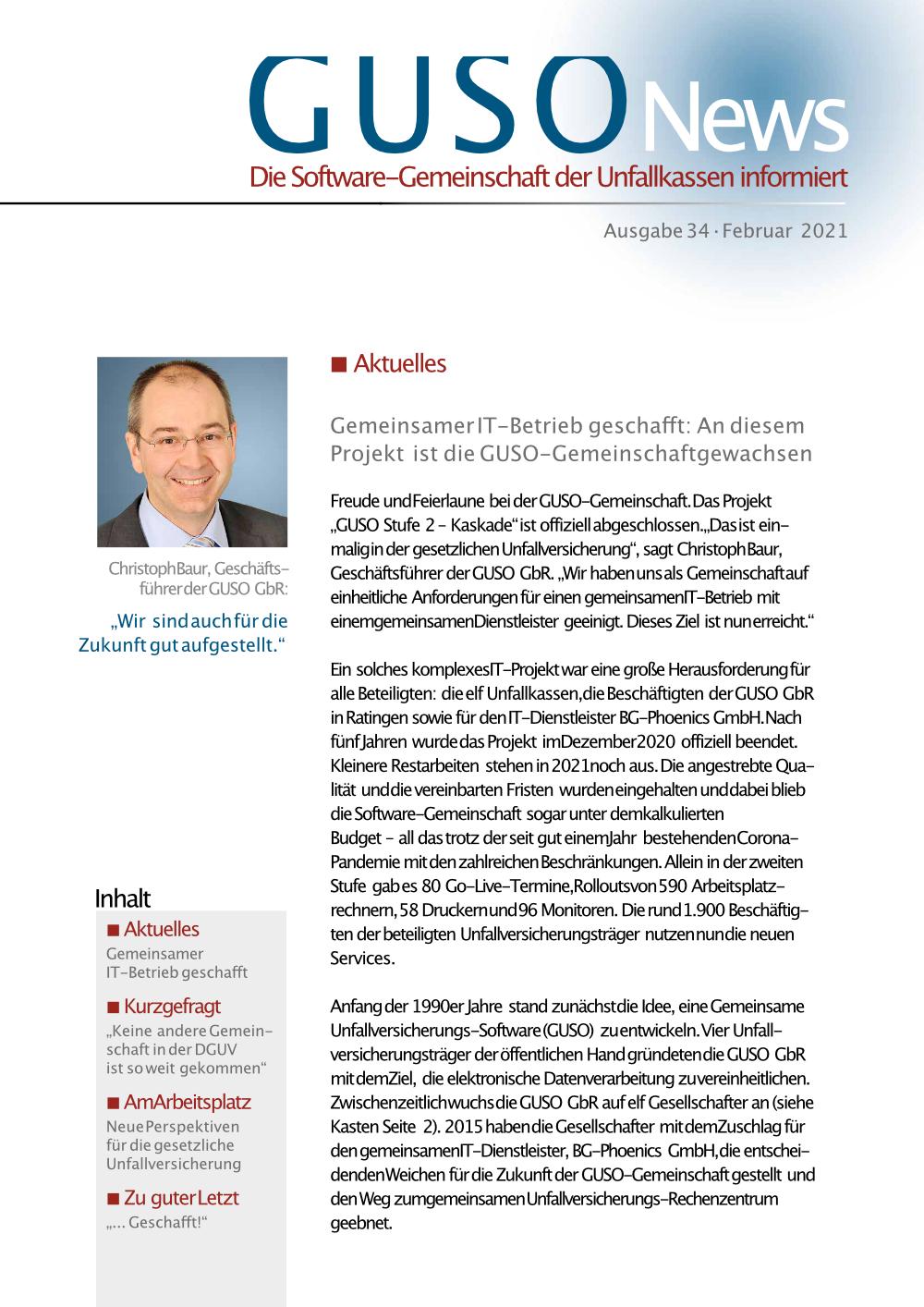 Read more about the article Gemeinsamer IT-Betrieb für 11 Unfallkassen